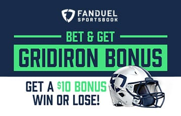 Fanduel bet on gridiron and get a $10 bonus win or lose